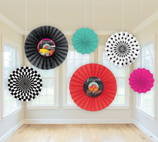 50s Classic - Card Fan Decorations